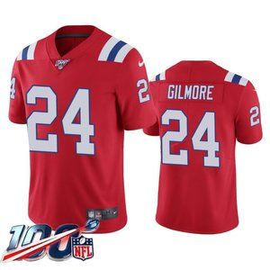 New England Patriots Stephon Gilmore Red Jersey